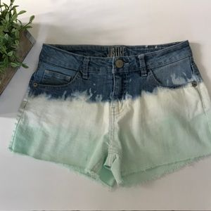 Justice ombré denim shorts